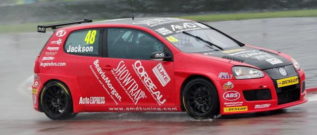 Ollie Jackson in the Thruxton rain - Photo: Bob Knightley