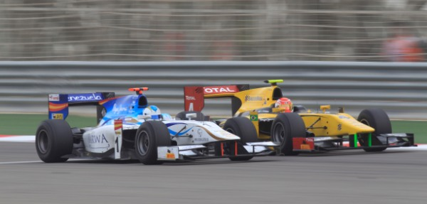 Cecotto and Nasr's battle for sixth ended in tears - Photo Credit: Glenn Dunbar/GP2 Media Service