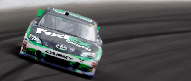 Denny Hamlin scored his second win of the season (Photo Credit: Geoff Burke/Getty Images for NASCAR)