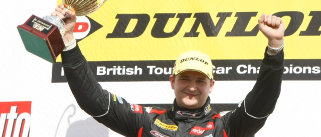 Mat Jackson scored his first win of 2012 at Donington Park.