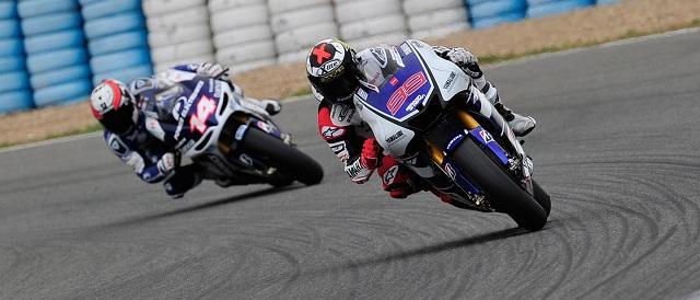 Jorge Lorenzo and Randy de Puniet - Photo Credit: MotoGP.com