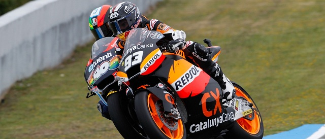 Marc Marquez battles Pol Espargaro - Photo Credit: MotoGP.com