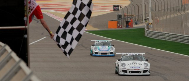 Norbert Siedler leads the Porsche Mobil 1 Supercup standings after winning the second race of the season-opening double-header in Bahrain.