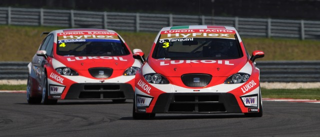 Gabriele Tarquini and Aleksei Dudukalo - Photo Credit: WTCC Media