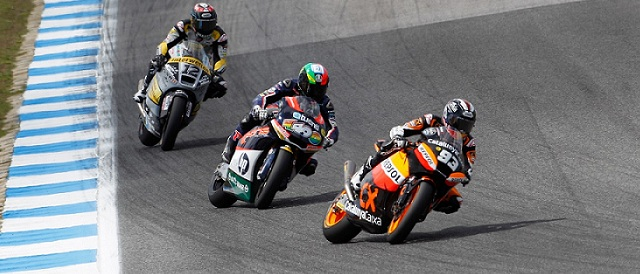 Marc Marquez, Pol Espargaro and Thomas Luthi - Photo Credit: MotoGP.com