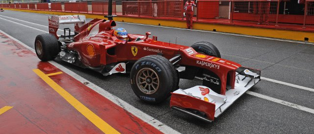 Fernando Alonso set the fastest lap on a wet Tuesday in Mugello - Photo Credit: Ferrari