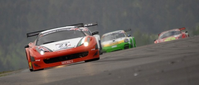 Duncan Cameron drove the MTECH Ferrari 458 to the front (Photo Credit: Chris Gurton Photography)