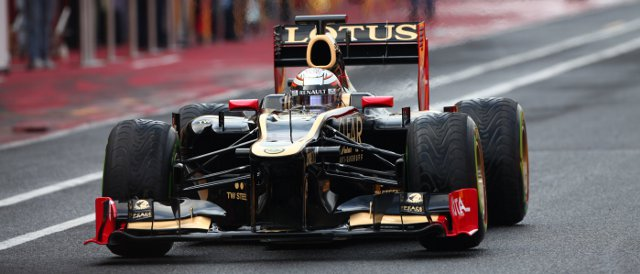Jerome D'Ambrosio gets his first go in the new Lotus E20 - Photo Credit: Andy Hone/LAT Photographic