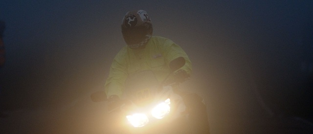 Conditions deteriorated as the evening went on - Photo Credit: Isle of Man TT