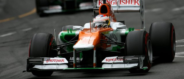 Paul Di Resta finished ahead of Force India team-mate Nico Hulkenberg despite starting four places behind the German - Photo Credit: Sahara Force India F1 Team