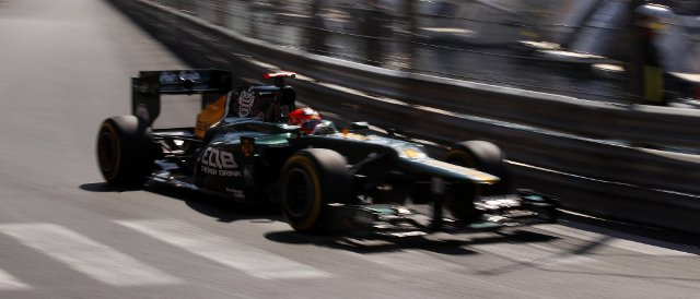 Heikki Kovalainen in FP1, before his engine blew-up - Photo Credit: Caterham F1 Team