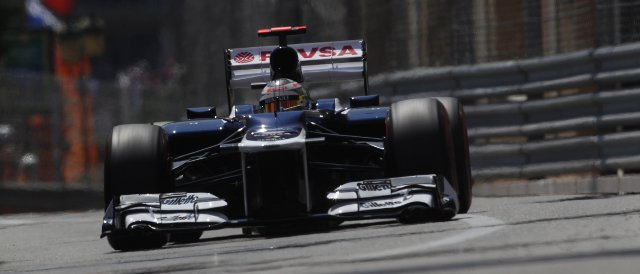Pastor Maldonado certainly didn't make things easy for his Williams in Monaco today - Photo Credit: Charles Coates/LAT Photographic