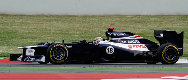 Maldonado on the way to his maiden win - Photo credit: LAT / Williams