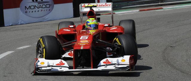 Massa reached Q3 for the first time this season today in Monaco - Photo Credit: Ferrari