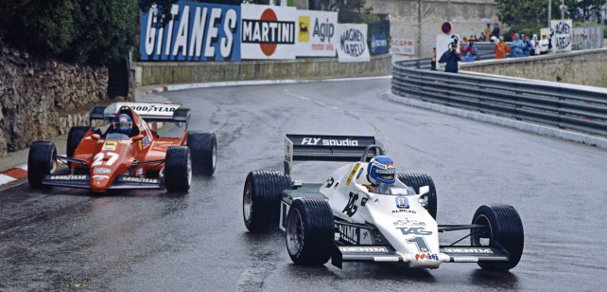 Keke Rosberg leads Patrick Tambay on the way to victory in the 1983 Monaco Grand Prix. Rosberg became the fifth different winner in the opening five races that day - Photo Credit: LAT Photographic/Williams F1