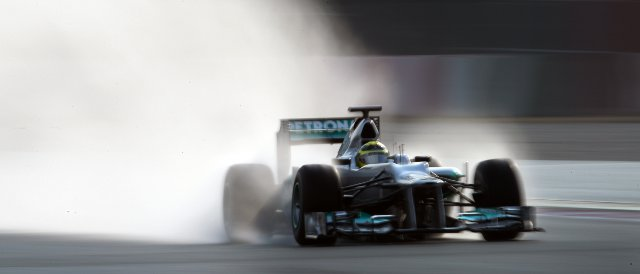 Rosberg got far more running than Schumacher today in Mugello - Photo Credit: Mercedes AMG Petronas
