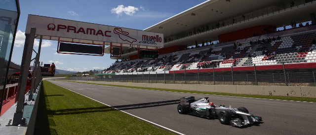 Michael Schumacher was the hardest working driver in Mugello today, completing 144 laps for Mercedes at his old stomping ground - Photo Credit: Mercedes AMG Petronas