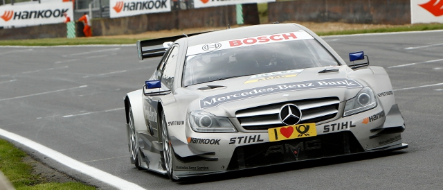 Christian Vietoris heads for the line around Brands Hatch in qualifying (Photo Credit: DTM Media)