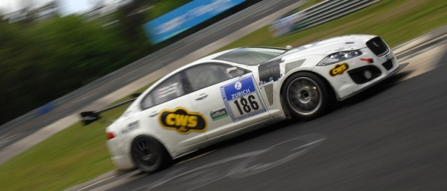 Carvell Motorsports Jaguar during the Nurburgring 24 Hours (Photo Credit: Chris Gurton Photography)