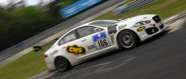 Carvell Motorsports Jaguar during the Nurburgring 24 Hours (Photo Credit: Chris Gurton Photography)