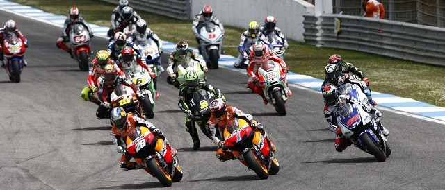 The start of the Portuguese Grand Prix - Photo Credit: Repsol Honda