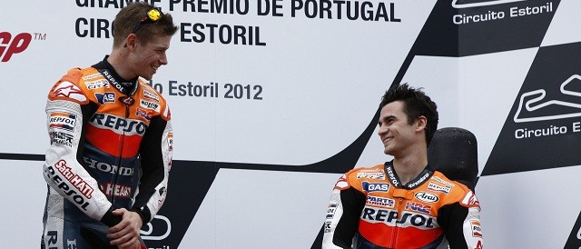 Casey Stoner and Dani Pedrosa - Photo Credit: Repsol Honda