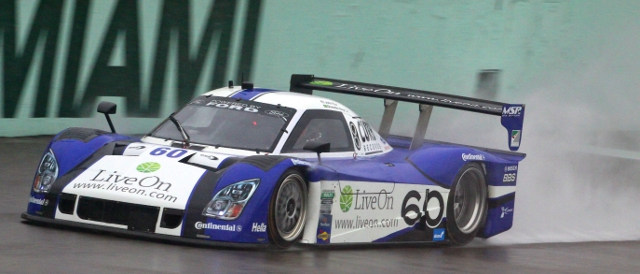 Michael Shank Racing hit problems in the Miami rains (Photo Credit: Grand-Am)