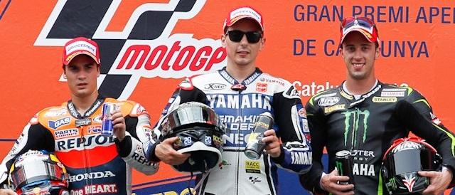 The podium finishers at Catalunya - Photo Credit: MotoGP.com