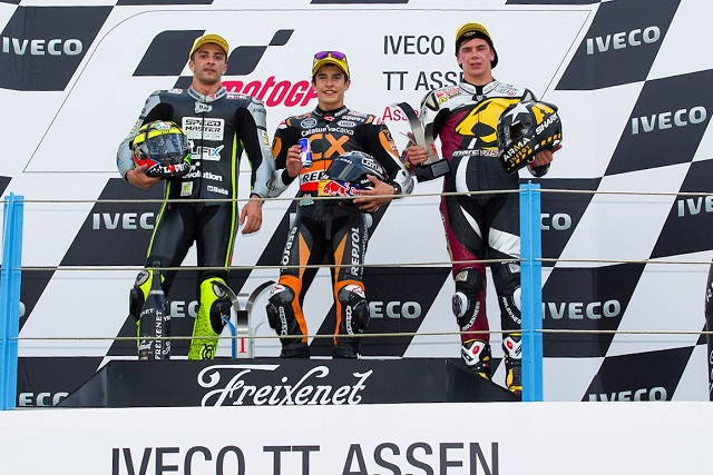 The podium finishers at Assen - Photo Credit: MotoGP.com