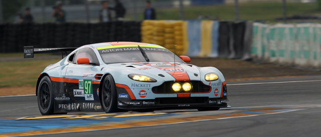 #97 Vantage GTE of factory drivers Darren Turner, Stefan Mücke and Adrian Fernandez