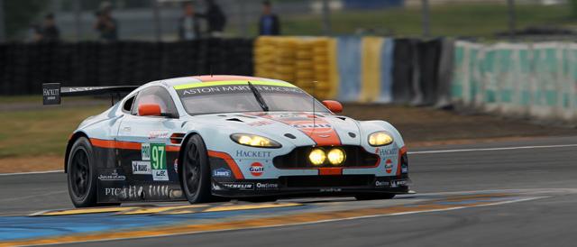 #97 Vantage GTE of factory drivers Darren Turner, Stefan Mücke and Adrian Fernandez