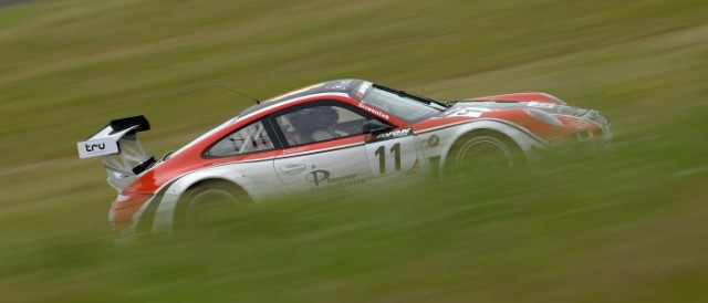 Michael Caine set the best time of British GT practice (Photo Credit: Chris Gurton Photography)