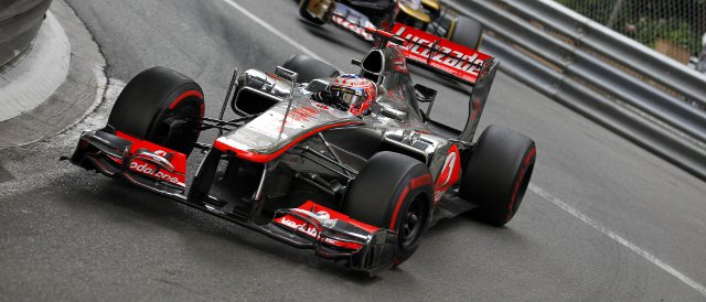 Jenson Button missed out on Q2 in Monaco, and failed to finish the race - Photo Credit: Vodafone McLaren Mercedes