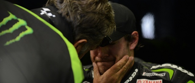 Cal Crutchlow is congratulated by Herve Poncharal - Photo Credit: Tech 3