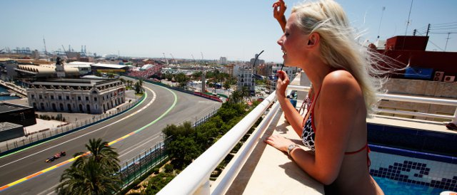 Some would argue that the views are good in Valencia, but does that make up for the lack of racing excitement? - Photo Credit: Getty Images
