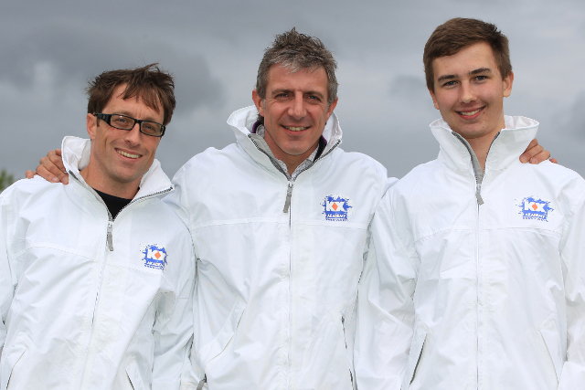 Jason Plato (Centre) Inducts Stefan Hodgetts (Left) And Tom Ingram (Right) Into The KX Akademy