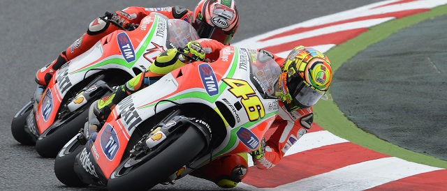 Valentino Rossi and Nicky Hayden - Photo Credit: Ducati