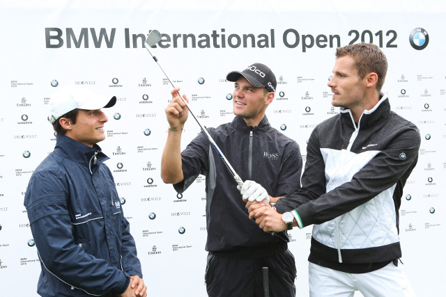 Bruno Spengler, golfer Martin Kaymer and Martin Tomczyk (Photo Credit: BMW AG)