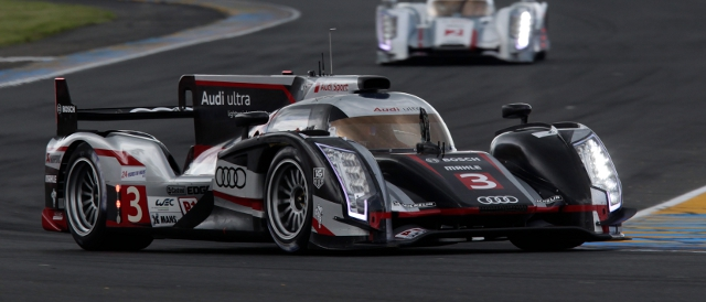 Loic Duval moved the #3 into fourth place (Photo Credit: Audi Motorsport)