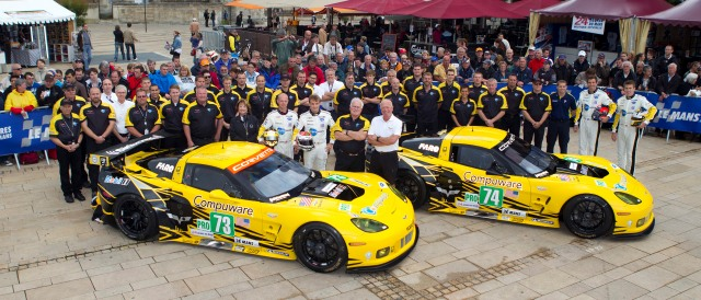 The Corvette Racing team ahead of the 2012 24 Hours of Le Mans - Photo Credit: Corvette Racing