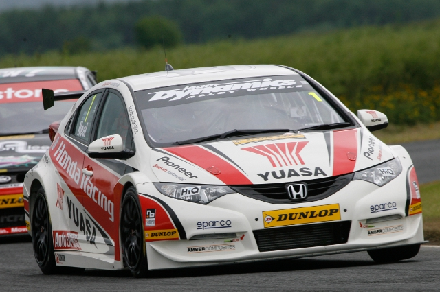 Matt Neal scored another pole position at Croft (Photo Credit: btcc.net)