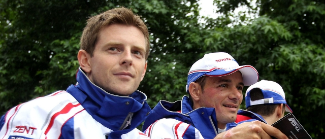 Davidson (left) was not seriously hurt in the accident (Photo Credit: Toyota Racing)