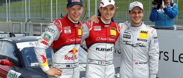 Mattias Ekstrom, Edoardo Mortara and Gary Paffett - Photo Credit: DTM Media