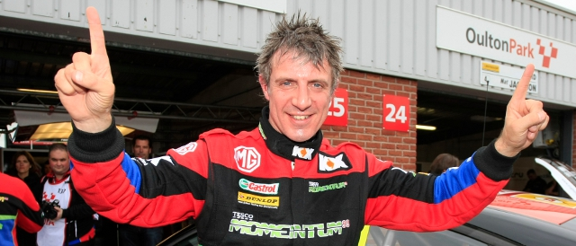 Jason Plato celebrates his second pole position of the season (Photo Credit: btcc.net)