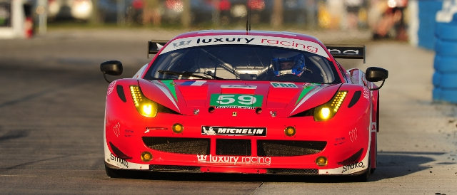 Luxury Racing's 458 Italia at Sebring (Photo Credit: DPPI Media)