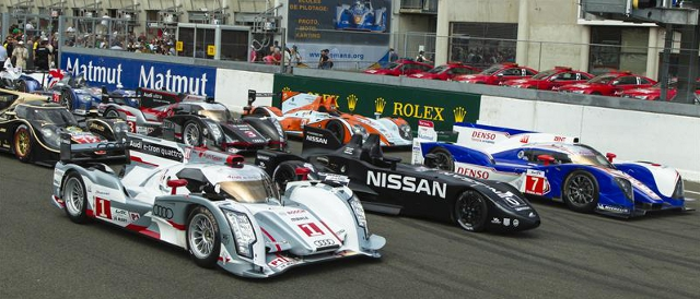 Cars assembled for the 2012 24 Hours of Le Mans (Photo Credit: Rolex/Jad Sherif)