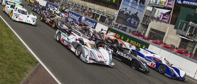 Part of the starting field for the 2012 24 Hours of Le Mans (Photo Credit: Rolex/Jad Sherif)