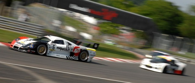 The winning Mosler rounds Druids (Photo Credit: Chris Gurton Photography)