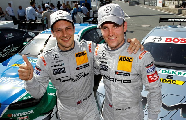 Gary Paffett and Jamie Green - Photo Credit: DTM Media