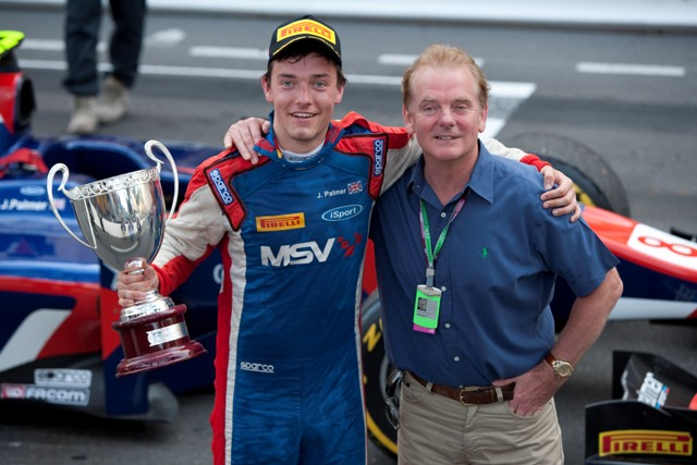 Jolyon Palmer and Jonathan Palmer - Photo Credit: Daniel Kalisz/GP2 Media Service